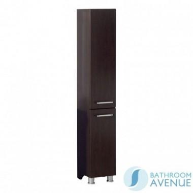 Freestanding Bathroom Tall Storage Unit and Linen Basket Wenge Marea