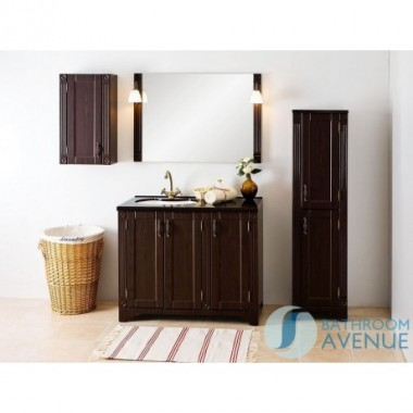 Freestanding Bathroom Tall Cabinet Wenge Vittoria