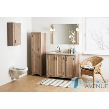 Freestanding Bathroom Tall Cabinet Larch Vittoria