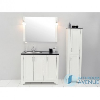 Freestanding Bathroom Tall Cabinet White Vittoria