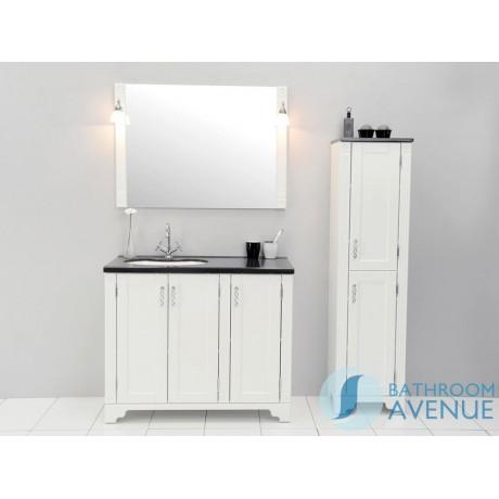 Freestanding Bathroom Tall Cabinet White Vittoria