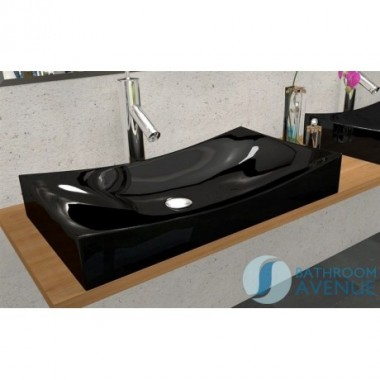 Modern Counter Top Basin Black Robertina 2