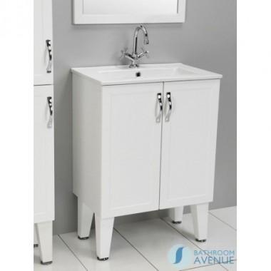 Traditional Vanity Unit White with Double Door Classico