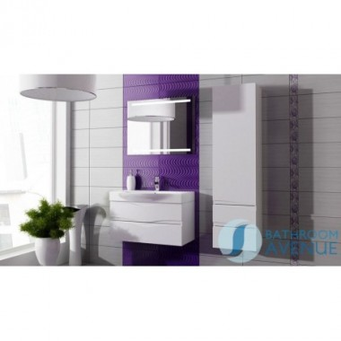 White modern contemporary bathroom cabinet with sink Mauricio
