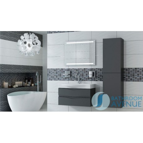 Graphite modern contemporary bathroom cabinet with sink Mauricio