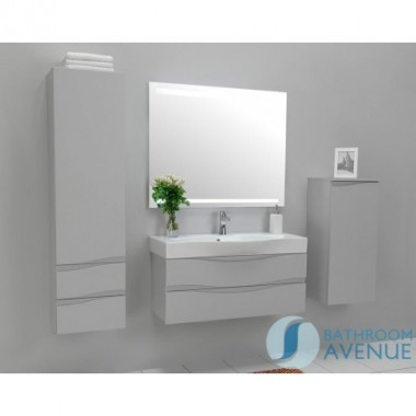 Grey modern contemporary bathroom cabinet with sink Mauricio