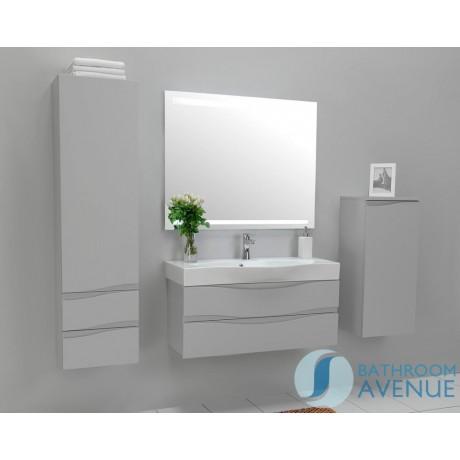 Grey modern contemporary bathroom cabinet with sink Mauricio