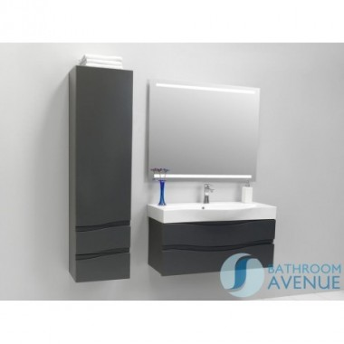 Graphite modern bathroom 2 drawer wall cabinet Mauricio