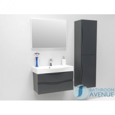 Graphite modern bathroom double door wall cabinet Mauricio