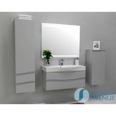 Grey modern bathroom 2 drawer wall cabinet Mauricio