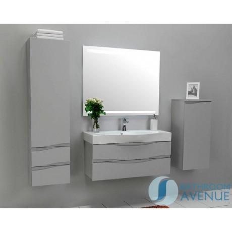 Grey Bathroom Wall Cabinet | Modern Bathroom Wall Cabinet Grey Mauricio Grey Bathroom Wall
