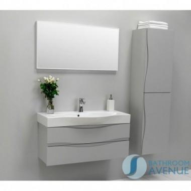 Grey modern bathroom double door wall cabinet Mauricio