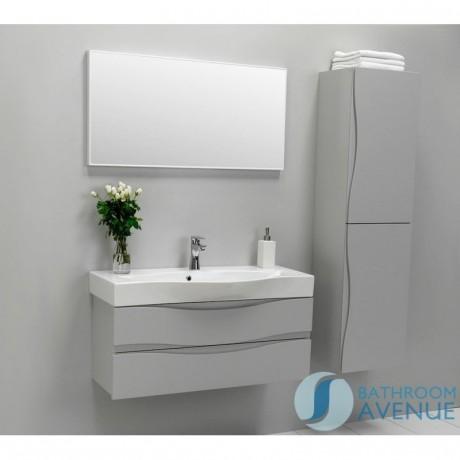 Modern 2 Door Bathroom Wall Cabinet Grey Mauricio Grey Bathroom
