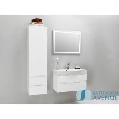 White modern contemporary bathroom 2 drawer wall cabinet Mauricio