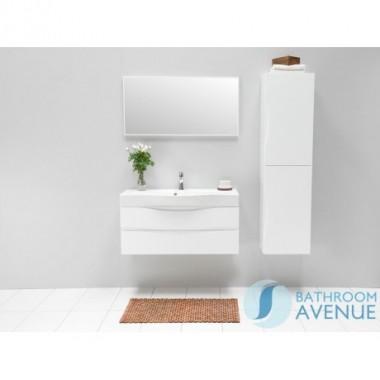 White modern contemporary bathroom double door wall cabinet Mauricio