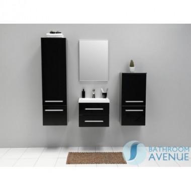 Black contemporary vanity unit 2 drawer Francesca