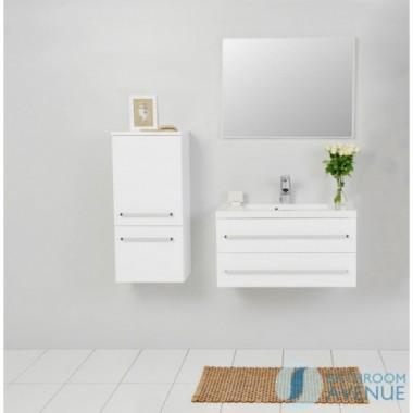 Modern bathroom wall cabinet white Francesca