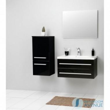 Modern bathroom wall cabinet black Francesca