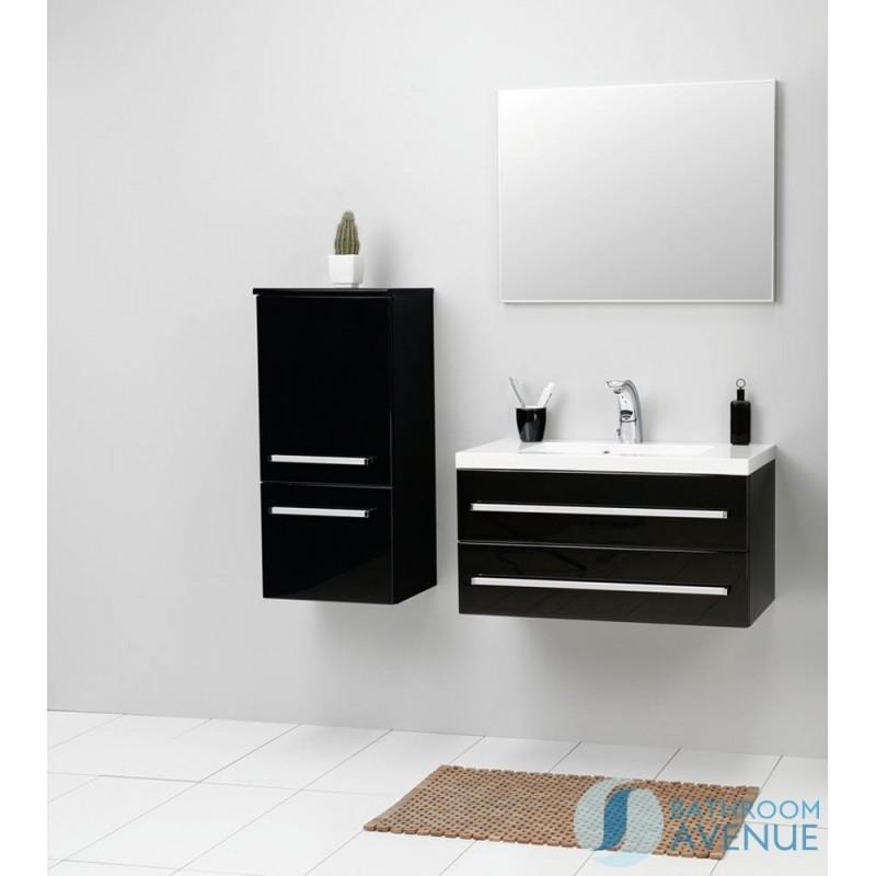 Modern Bathroom Wall Cabinet Black Francesca Bathroom Wall Hung Storage Unit Black