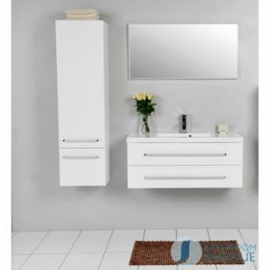 Modern tall bathroom storage unit white Francesca