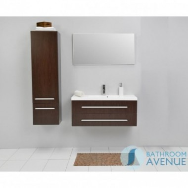 Modern tall bathroom storage unit wenge Francesca