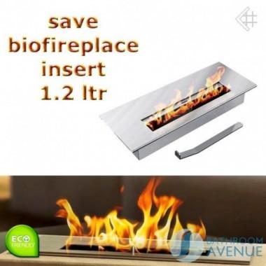 Bio fuel burner insert box medium